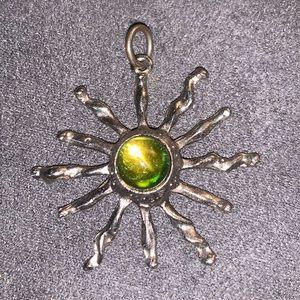90's pendants alien and rainbow sun